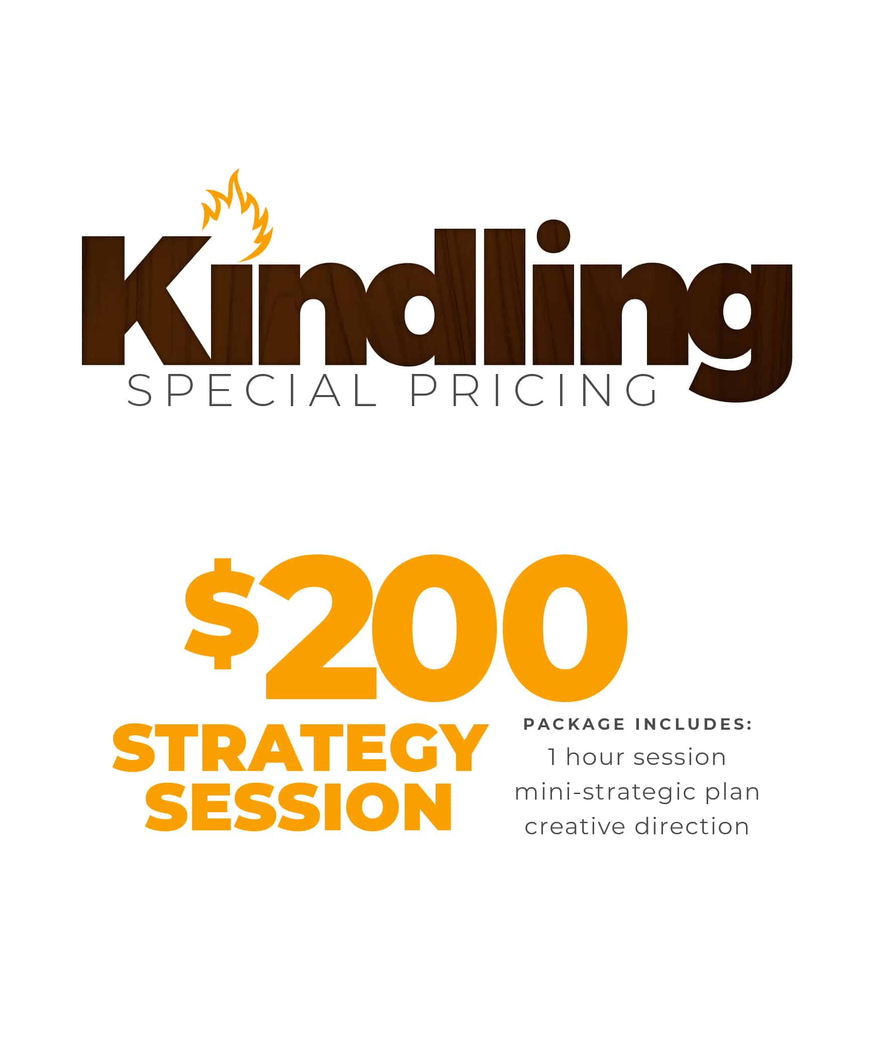 Kindling Special Pricing Holiday Special